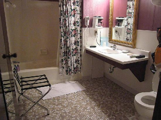 Plaza Motor Motel: Huge clean bathroom!