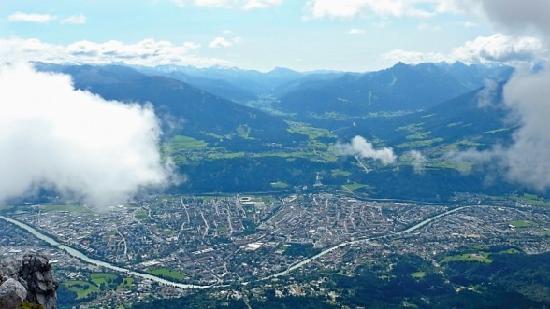 Sonnenhof Igls: Innsbruck city from the top