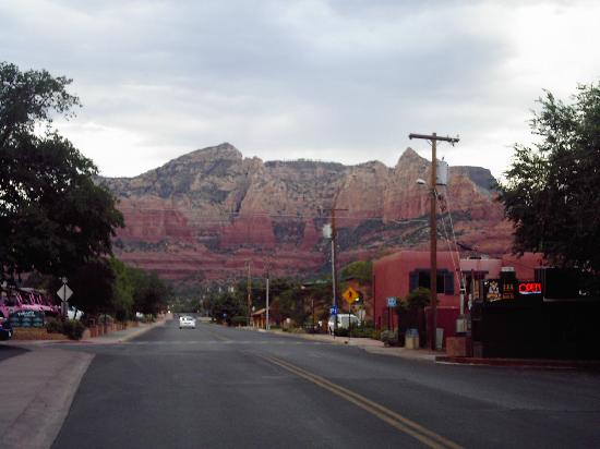 view right outside the star motel-sedona, az