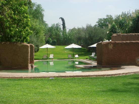 Les Deux Tours : the pool and the view from luch area