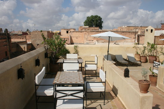 Riad Azoulay: the terrace