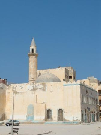 A benghazi mosque - and yes the sky is mainly blue - light blue - dark blue sometimes....