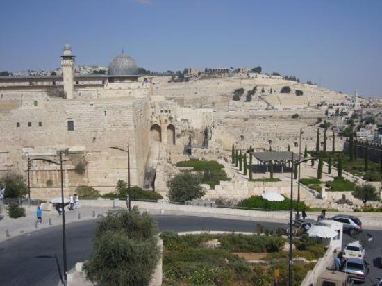 Mezquita de Al-Aqsa: view from the Jewish Quarter