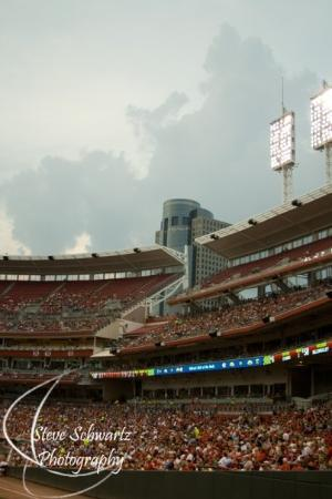 Great American Ball Park: Storm that was supposed to hit us during the game
