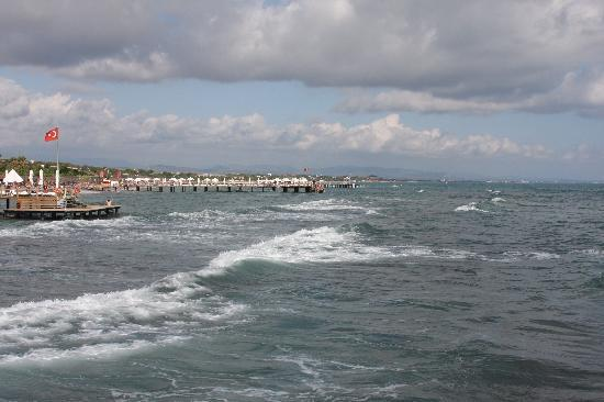 Voyage Sorgun: View from pier. Hotel site best for photos