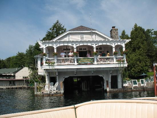Boathouse Bed and Breakfast A Lake Castle Estate on Lake George: The Inn from the lake