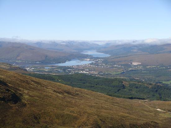 Corriegour Lodge Hotel: The view from Ben Nevis