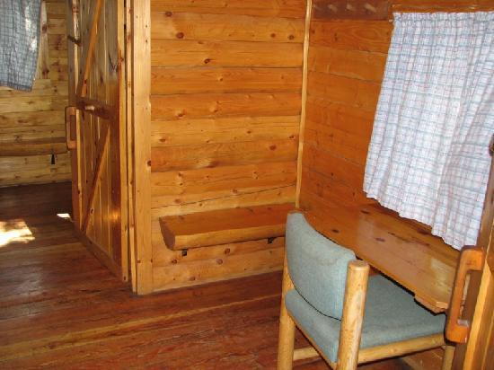Winthrop / N. Cascades National Park KOA: First room of two room cabin, desk area