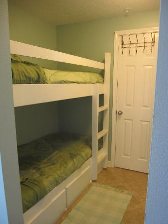 Gulf Place: bunks (master bath on other side of the door)