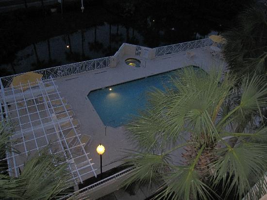 Gulf Place: not the best pic--but view of pool from the balcony