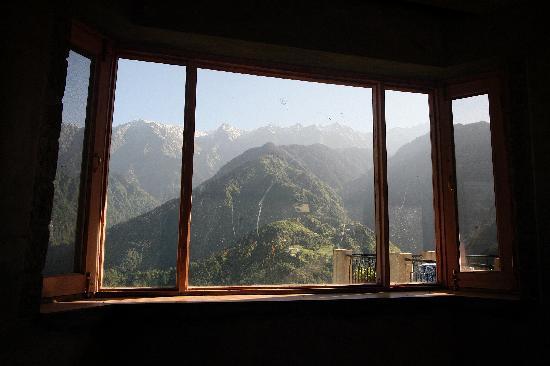 Naddi, India: Blick aus dem restaurant!