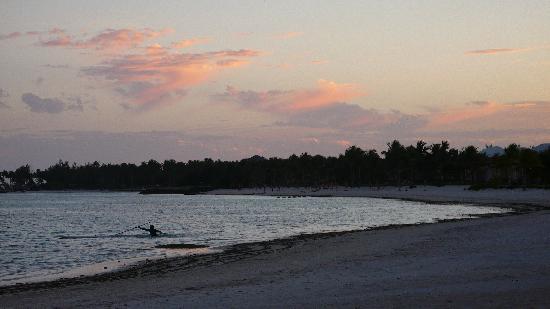 Tortuga Bay Hotel Puntacana Resort & Club: la plage au coucher du soleil: calme absolu