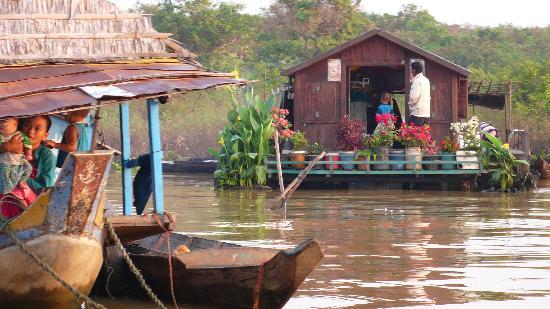 Amansara : sur le lac Tonlé Sap