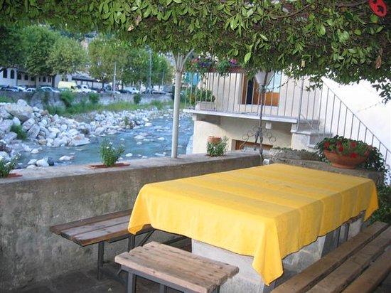 Chiavenna, Italia: Unser Frühstücksplatz