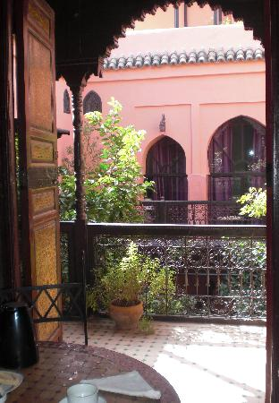 Riad Abbassia: The view from the sitting/breakfast room