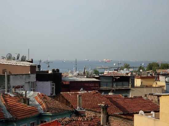 Mystic Hotel: view from breakfast terrace