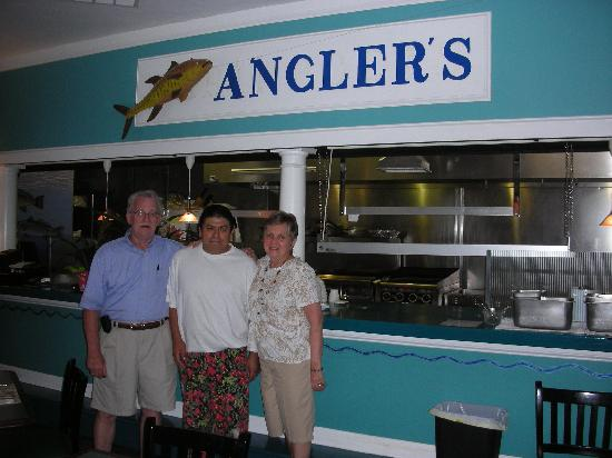 Anglers Beach Market Grill: Owners Joel and Barb Beaudry, chef Ticos