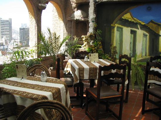 Hotel Rosario La Paz : The upstairs restuarant/cafe