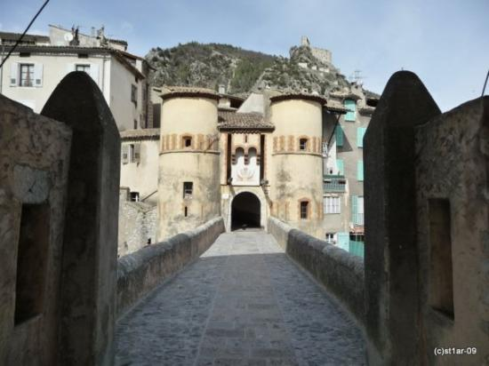 Entrevaux, France: Gate and castle