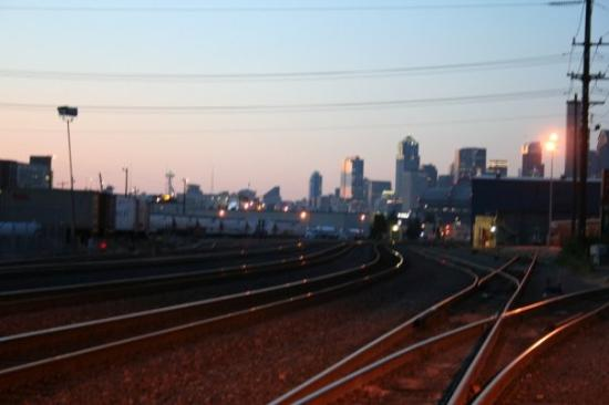 Sedro Woolley, WA: facing downtown Seattle from southside