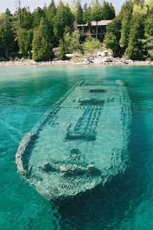 Sunken wreck, Tobermory, Ontario, Canada