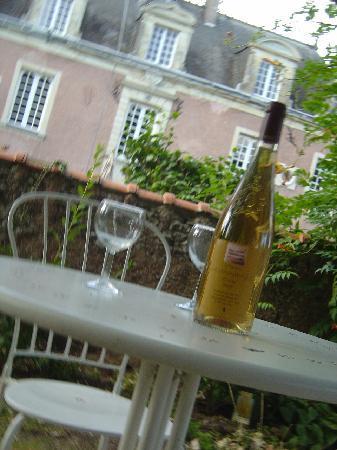 Ker Dame Marie : aperitifs dans le parc, vin charivari