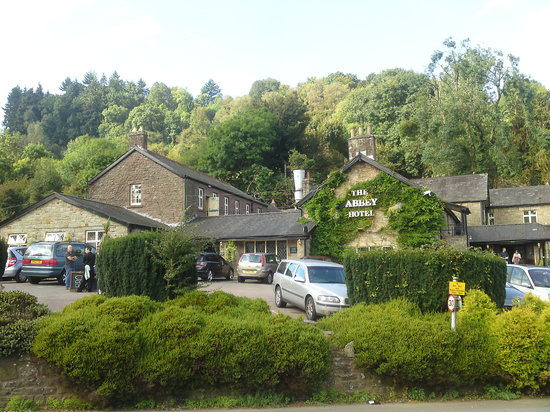 The Abbey Hotel from Tintern Abbey