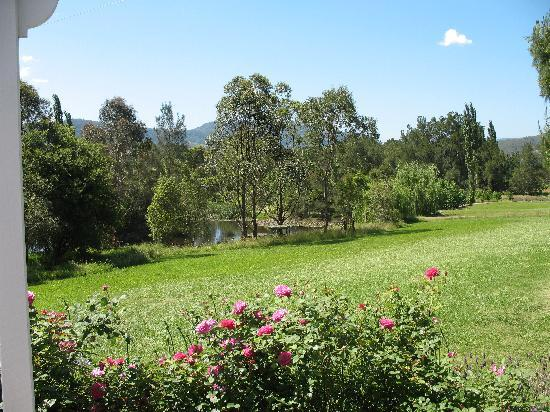 Crystal Creek Meadows Luxury Cottages & Spa Retreat: View from the porch
