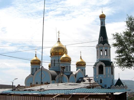 Chita, Rusia: Chiesa vicino alla stazione ferroviaria