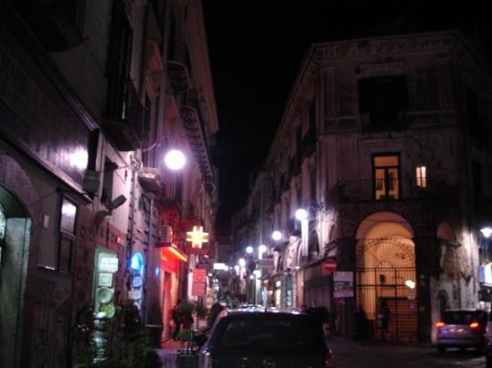 Vietri sul mare on the streets at night in search of pizza.