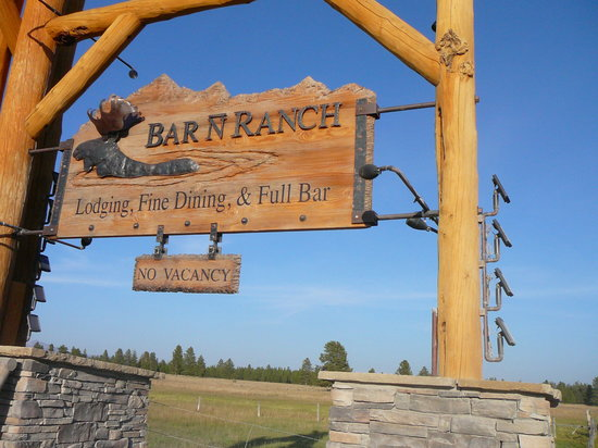 Bar N Ranch Restaurant: Bar N Ranch Sign