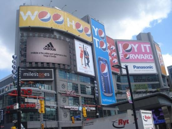 Toronto, Canada: Cool Pepsi advertising place... Dundas Square