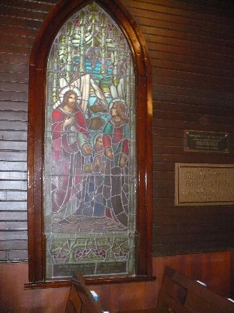 RCMP Heritage Centre: Stainglass window RCMP Chapel