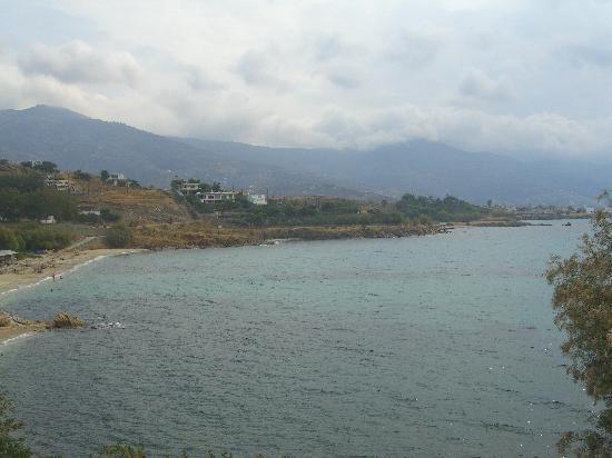Karystos, Griekenland: View from our balcony on a grey day