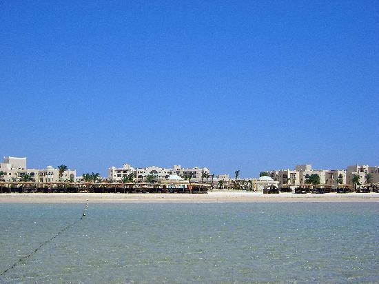 Kempinski Hotel Soma Bay: Blick vom Meer zu Hotel
