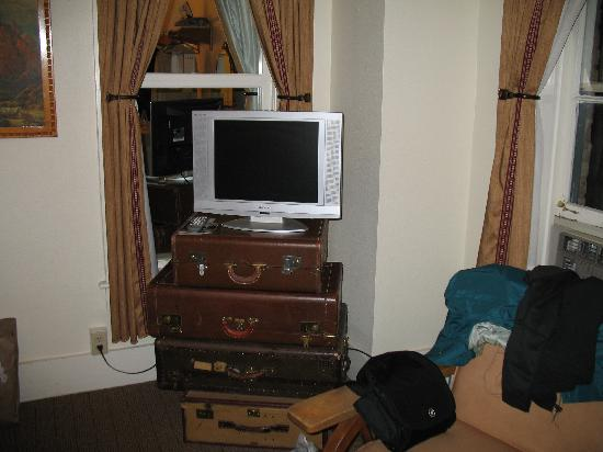 The Rochester Hotel and Leland House: Fun TV stand