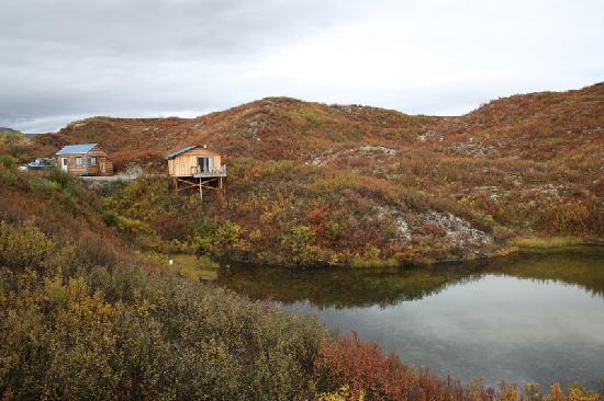 Denali Highway Tours: Cabin and shower house.
