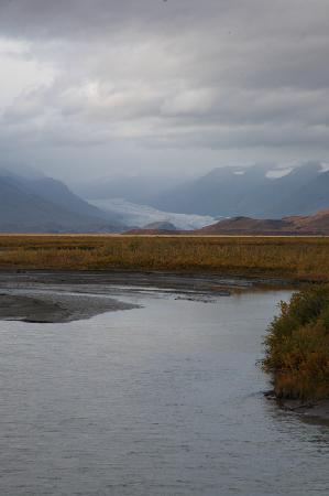 Denali Highway Tours: Maclaren River and glacier.