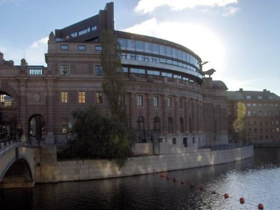 Parliament Building (Riksdagshuset): Parliament of Sweden, Riksdag, Stockholm.