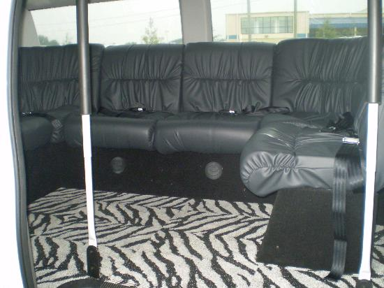 Holiday Inn Express Hotel & Suites Norfolk International Airport: The Hotel Van interior!