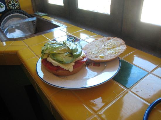 La Alianza: Tomato Avocado Sandwich