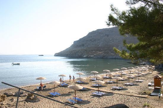 Lindos Blu: The beach