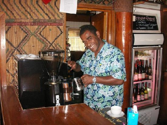 Toberua Island Resort: Ratu - the Barista