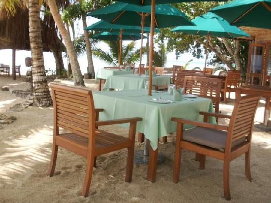Toberua Island Resort: Getting ready for lunch