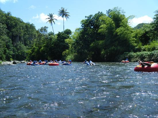 Antours Dominica: River Tubing through the lush rainforest of Dominica