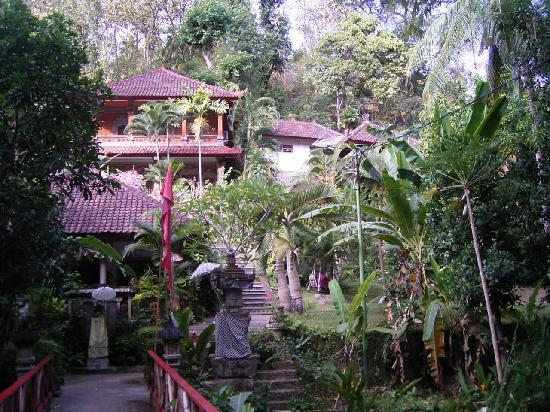 Grya Sari - the Bali Hot Springs Hotel : view from the street and over the bridge
