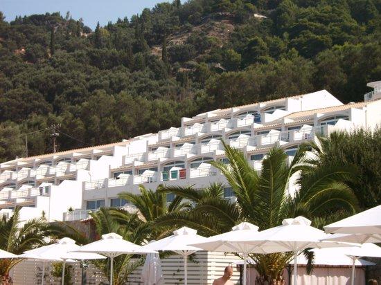 Mayor Pelekas Monastery: hotel from beach
