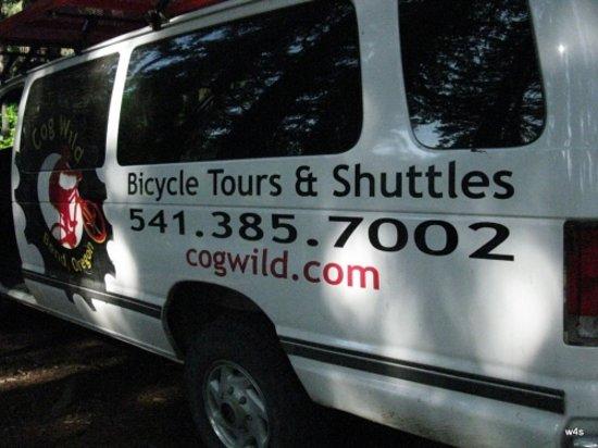 Cog Wild Mountain Bike Tours: CogWild van