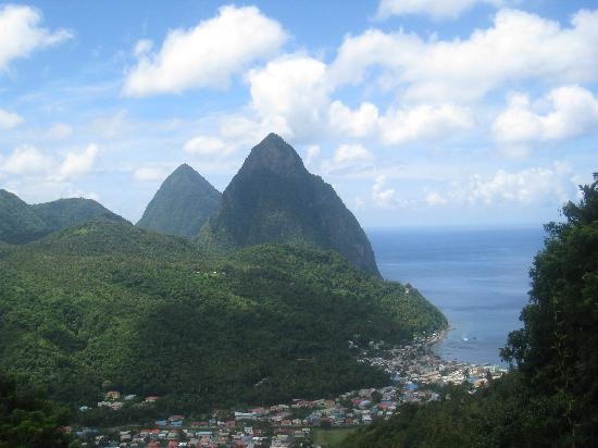 Cosol Tours: View of the Pitons from one of the MANY places for photo ops