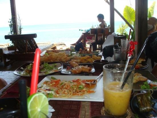 Ko Lanta, Thailand: En lätt 14 rätters lunch på Bambo bay